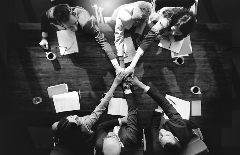 Teamwork in office - Meeting room get together
